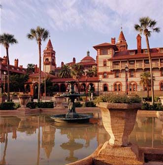Henry Flagler put St. Augustine on the tourist map with the Hotel Ponce de Leon (now part of Flagler College), designed by Thomas Hastings in 1887.