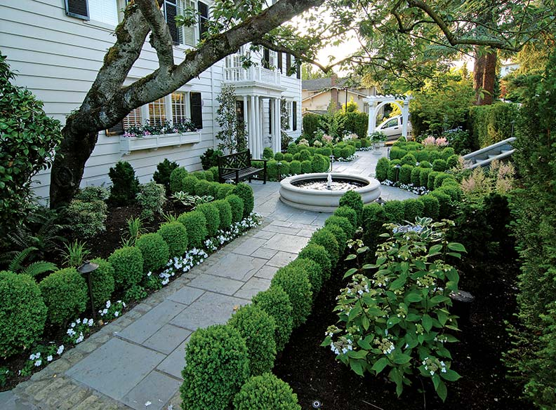 Georgian style home landscaping