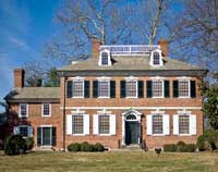 The Corbit-Sharp House, built in 1774, was completely restored in the 1930s.