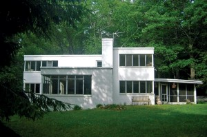 The author's 1949 cinder-block Bauhaus home is now fully restored.