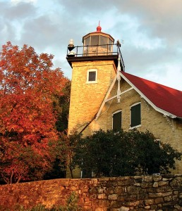 The Eagle Bluff Lighthouse was built in 1868.