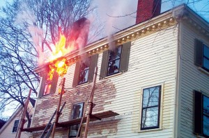 This blaze at a historic home in Marblehead, Massachusetts, was reportedly caused by the process used to remove exterior paint.