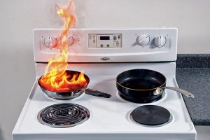 A device that fits over burners, keeping temperatures in check, can prevent fires caused by forgetfulness, common in elderly cooks. CLOCKWISE FROM RIGHT: Carbon monoxide detectors, fire extinguishers, and smoke detectors are standard safety features that should make an appearance in every old house.