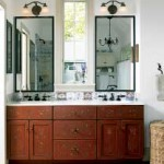 Lovely work in the master bathroom includes the Hindeloopen-style painted vanity and handmade tile inspired by Delft designs of the 1600s.