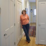 """I had never embarked on anything like this before,"" says Kim (shown here in her restored entry hall), who worked closely with Charlie to ensure all the work done to the house met her expectations and budget."