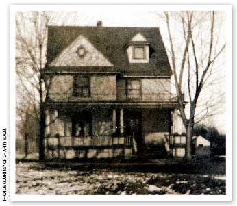 The author's diligent searching turned up both a photo of her home's builder (above) and a 1911 image of the house itself.