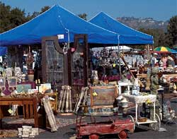 Local flea markets can be a great source for old photos and postcards.