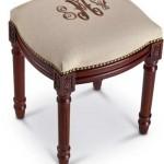 charleston-gardens-monogrammed-stool