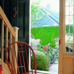 The front door was salvaged from the Vermont Greek Revival house.
