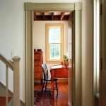 Simple interior moldings reflect the historical periods as well as the island's building past.