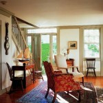 The living spaces are furnished with antiques—many found on the island.