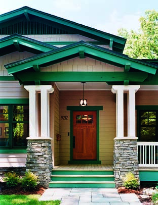 Bungalow basics old house online old house online for Arts and crafts porch columns