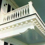 "The distinctive ""bundled wheat"" railing is modeled after a historic home in nearby New Bern, North Carolina."