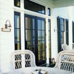 Franck envisioned the porch as an outdoor room, a place where much of the living and entertaining take place in summer.