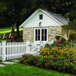 Murray restored an outbuilding on the property as well. Today it is used as a garden shed.