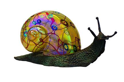 Gold Murrini Snail lamp