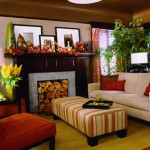 The men chose smaller furnishings with simple lines to keep the living room intimate.