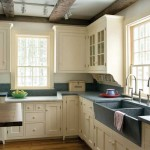 The cabinetry is based on butler pantry designs of the late 1800s.