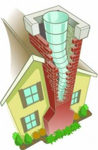 Metal chimney liner illustration