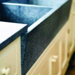 Gest chose Vermont soapstone for the sinks and countertops.