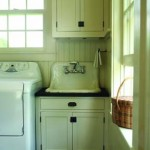 A salvaged sink was found for the laundry/mud room.