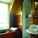 The original bathroom was intact, including its tin tub.