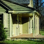 The porches maintain the overall volume of the structure.