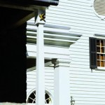 Tate included Colonial Revival embellishments, such as this columned porch.