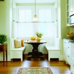 The kitchen cabinets—topped with soapstone counters—and the window seat were custom built-ins.
