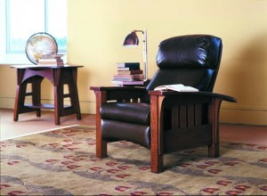 An interpretive design from L. & J.G. Stickley called Light Tulip Fest is one of their most popular rugs.