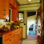 Lans built the cabinetry for the butler's pantry. Douglas fir cabinets conceal a Bosch dishwasher.