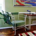 Aluminum furniture designed by Warren McArthur is modern but inspired by neoclassical forms.