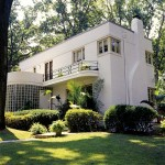 The Streamline Moderne residence was built in 1939 and has been restored by appreciative owners.