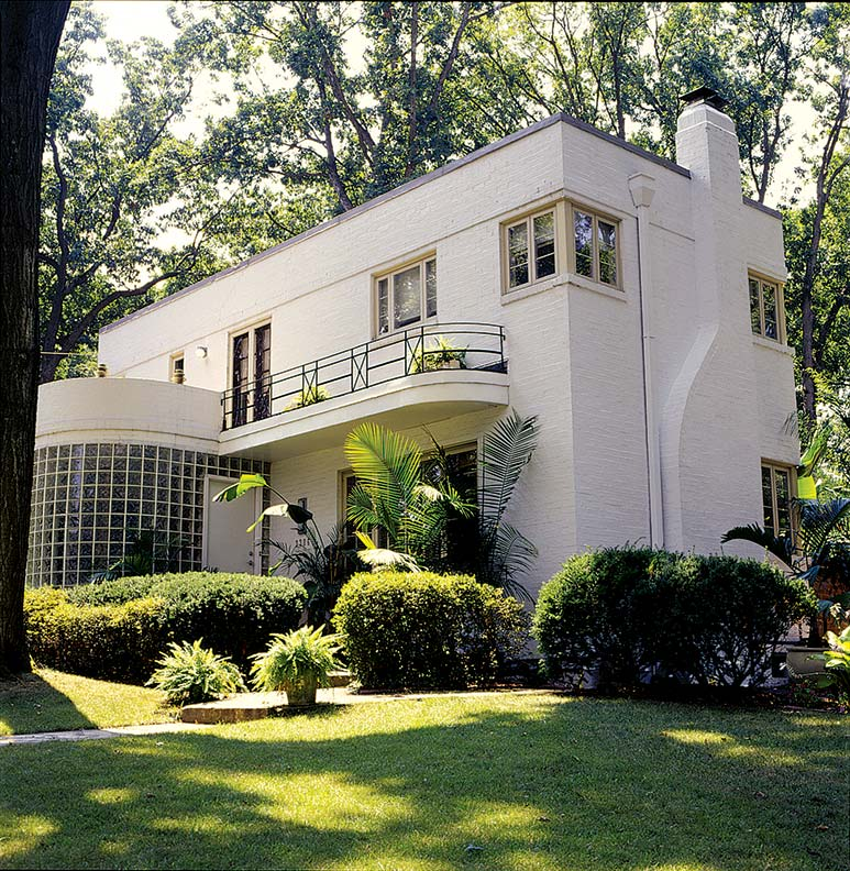 An art moderne restoration old house online old house for Art deco house design