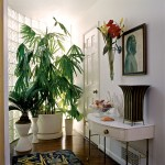 The owners devote time to selecting plants that reference the botanical motifs in their furniture.
