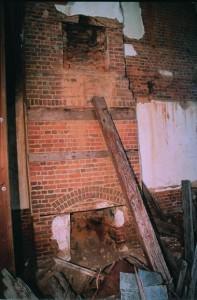 Deteriorating chimney