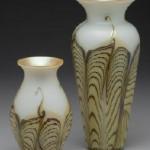 Opal double-feather vases, Carl Radke