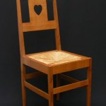 Reproduction Voysey bedroom chair, Christopher Vickers
