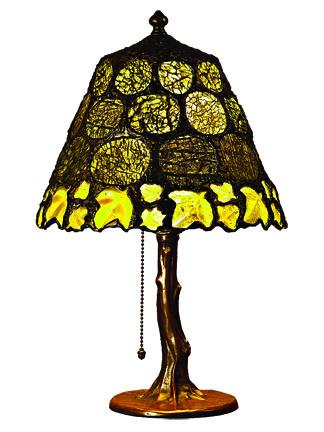 Handel base with olivine and serpentine shade, Julie Rauschenberger, (206) 938-9321
