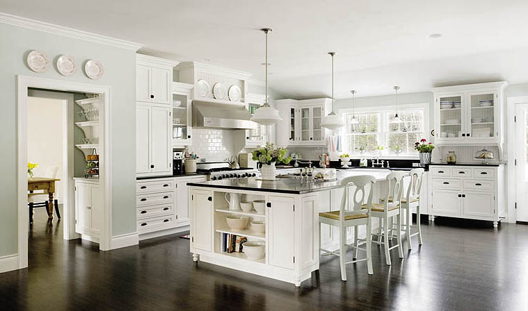 When homeowner Christine Laughlin saw the movie Something's Gotta Give, she didn't fall in love with the plot but the kitchen. She worked with designer Robin Amorello and Sherri Cook of Cook & Cook Cabinetry to create the kitchen of her dreams.