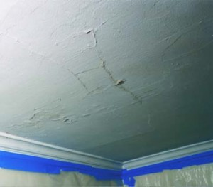 Delaminating plaster ceiling