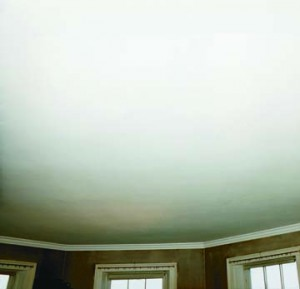 Restored plaster ceiling