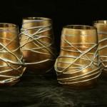 Vine glass tumblers, Pavonine Glass