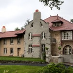 The original portion of the home appears exactly as it did after architect William Lightfoot Price's 1904 redesign,  which turned the 1862 A.J. Downing Italianate Villa pattern-book house into an English-style Arts & Crafts masterpiece.