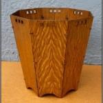 Craftsman-style wastepaper basket, S.D. Murphy