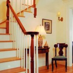 The front staircase is a replica of a late-nineteenth-century one found down the road at Shepard's grandmother's house.