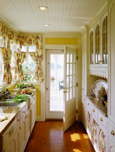 By the 1930s, updated versions of Catharine Beecher's ship's-galley-inspired kitchen were a common sight, with cabinets, shelves, and drawers all placed within easy reach in narrow spaces.
