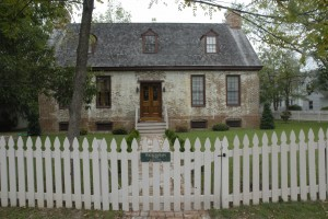 Wickersham House was painstakingly moved, sometimes brick by brick, from another town by its owner to this site backing up to the Miles River.