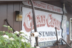 At the Crab Claw Restaurant, locals can eat crabs and imbibe beer while looking over the waterway.