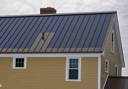 Developed by Drexel Metals for its standing-seam roofs, solar film is far less obtrusive than typical solar panels.